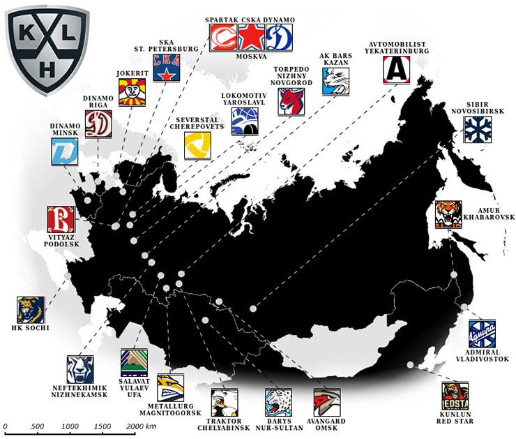 khl-joukkueet-kartta