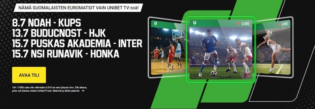 Honka-NSI Runavik ilmainen livestream